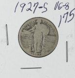1927-S STANDING LIBERTY QUARTER - VG
