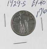 1929-S STANDING LIBERTY QUARTER - EF