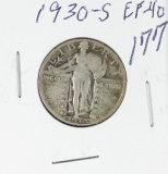 1930-S  STANDING LIBERTY QUARTER - EF