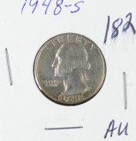 1948-S  WASHINGTON QUARTER  - AU