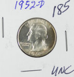 1952-D WASHINGTON QUARTER  - UNC