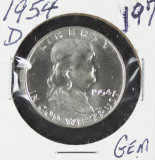 1954-D  FRANKLIN HALF DOLLAR -GEM