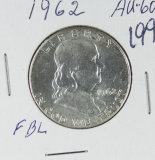 1962 - FRANKLIN HALF DOLLAR - AU