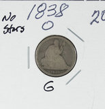1838-O LIBERTY SEATED DIME