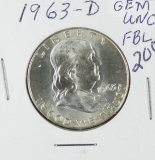 1963-D  FRANKLIN HALF DOLLAR - UNC