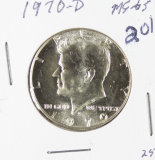 1970-D KENNEDY HALF DOLLAR - GEM - KEY