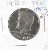 1976-S TYP II PROOF KENNEDY HALF DOLLAR