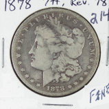 1878 - 7 TAIL FEATHERS - REV OF 78 MORGAN DOLLAR -F