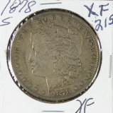 1878-S MORGAN DOLLAR - XF