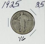 1925 - STANDING LIBERTY QUARTER - VG