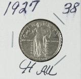 1927 - STANDING LIBERTY QUARTER - AU