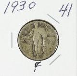 1930 - STANDING LIBERTY QUARTER - F