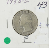1935-S WASHINGTON QUARTER - F