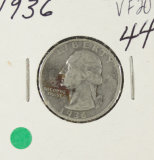 1936 - WASHINGTON QUARTER - VF