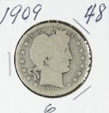 1909 - BARBER HALF DOLLAR - G