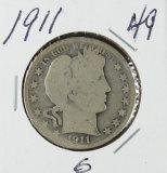 1911 - BARBER HALF DOLLAR - G
