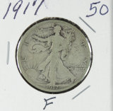 1917 - WALKING LIBERTY HALF DOLLAR - F