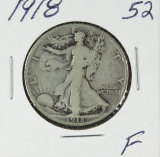 1918 - WALKING LIBERTY HALF DOLLAR - F
