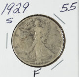 1929-S WALKING LIBERTY HALF DOLLAR - F