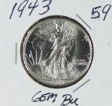 1943 - WALKING LIBERTY HALF DOLLAR - BU