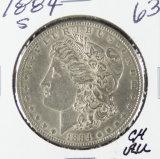 1884-S MORGAN DOLLAR - CH AU