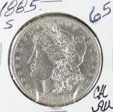 1885-S  MORGAN DOLLAR - CH AU