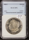 1882-S MORGAN DOLLAR - UNC  - PROOF LIKE
