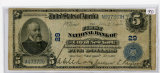 FIVE DOLLAR - NAT'L CURRENCY - FNB OF THE CITY OF NY CA 29