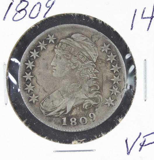 1809 - CAPPED BUST HALF DOLLAR - VF