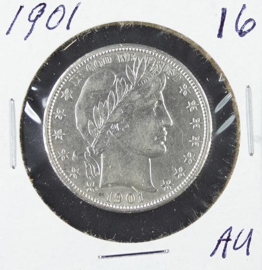 1901 - BARBER HALF DOLLAR - AU