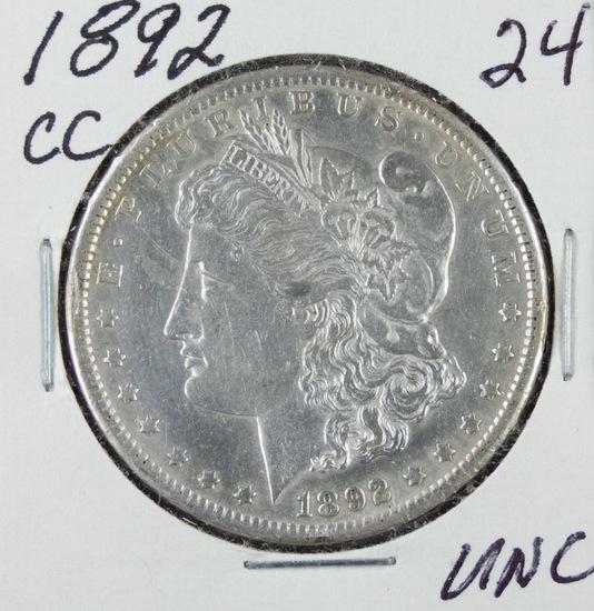 1892- CC MORGAN DOLLAR - UNC