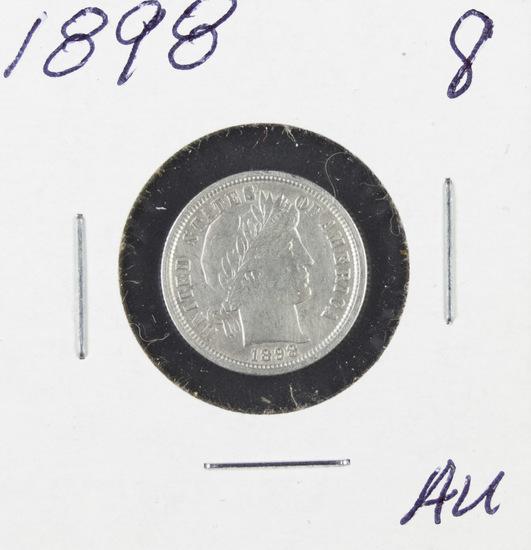 1898 - BARBER DIME - AU