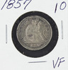 1857 - SEATED LIBERTY QUARTER - VF