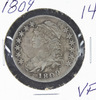1809 - CAPPED BUST HALF DOLLAR - VF