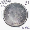 1884-CC MORGAN DOLLAR - UNC