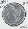 1891 - CC MORGAN DOLLAR - UNC