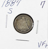 1887-S SEATED LIBERTY DIME - VF+