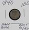 1840 - SEATED LIBERTY HALF DIME - G/AG