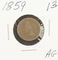 1859 - COPPER/NICKEL INDIAN HEAD CENT - AG