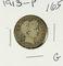 LOT OF 2 1913 BARBER QUARTERS - G