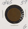 1865 - TWO CENT PIECE - G