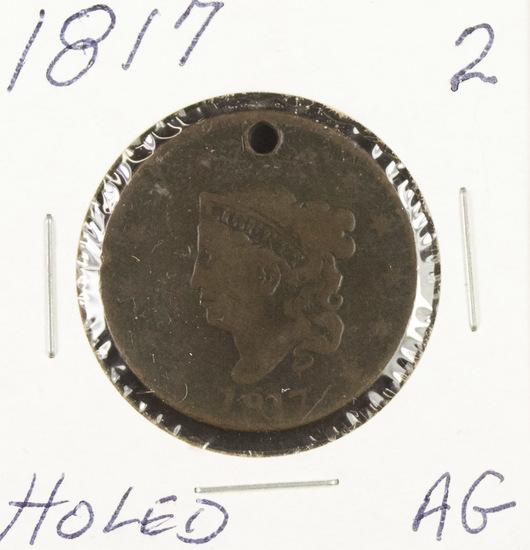 1817 - MATRON HEAD LARGE CENT - AG
