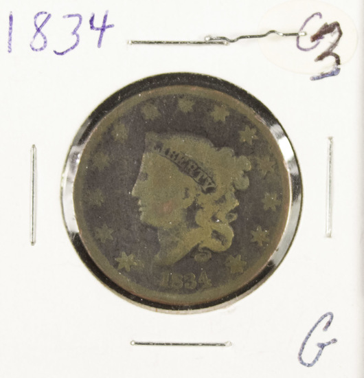 1834 - MATRON HEAD LARGE CENT - G