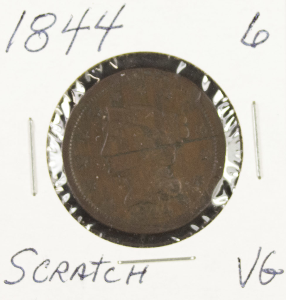1844 - BRAIDED HAIR LARGE CENT - VG
