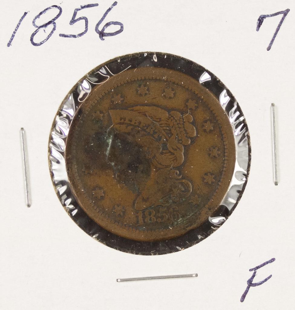1856 - BRAIDEDHAIR LARGE CENT - F