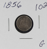 1856 - SEATED LIBERTY HALF DIME - G