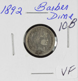 1892 - BARBER DIME - VF