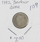 4 - COIN LOT BARBER DIMES - G