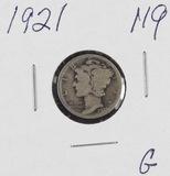 1921 - MERCURY DIME - G