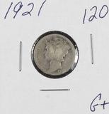 1921 - MERCURY DIME - G+